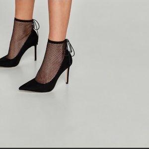 Zara Mesh Lace up Heels